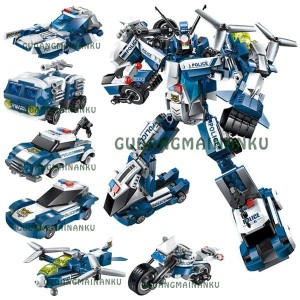 Lego Qman Enlighten 1407 The Raging Warrior Robot Polisi (6 macam)
