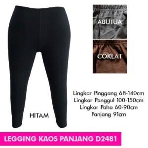 BIG SIZE BIGSIZE LEGGING KAOS PANJANG D2481