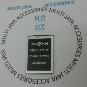Baterai Advan S5E Full View 5800mAh Double Power | Battery
