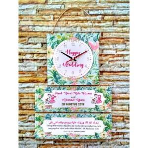 Kado Pernikahan Jam Hadiah Pernikahan Islami Kado Wedding Jam Dinding