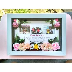 Dekorasi 3D Kado Wisuda Bisa Custom Untuk Kado Pernikahan Ulang Tahun