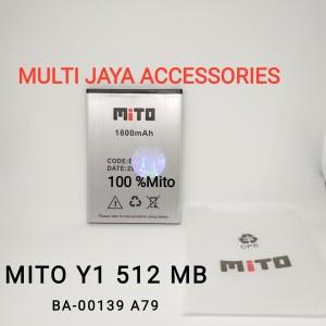 baterai Original 100% Mito Y1 512 mb /BA-00139/Battery/A79