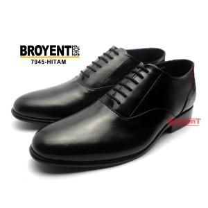 Sepatu Kerja Kantor Pantofel Pria Kulit Sapi Asli Warna Hitam 7945
