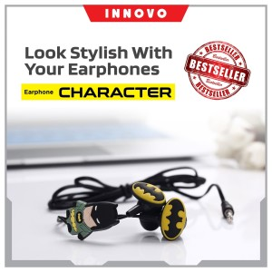 Headset Karakter BATMAN Earphone Headphone Mic Super Bass - Innovo