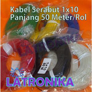 Kabel Serabut kecil 1x10 50 Meter Per Roll 50m Per Rol