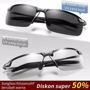 Kacamata Sunglass fotosensitif berubah warna unisex pria/wanita