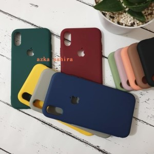 iPhone Xs Max Solid Color Candy Silicone Cases