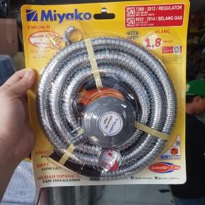 Selang gas paket + regulator meter Miyako RMS-106 M RMS106M RMS106 M