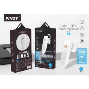 Headset Bluetooth Original PINZY B9 Magnet Bass - Putih