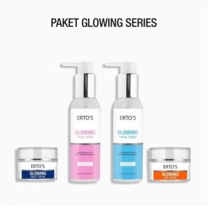 Ertos Paket Glowing Series 4 in 1- Glowing Day,Night,Toner,Facial Wash