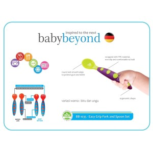 Baby beyond - BB 1035- Easy grip spoon and fork