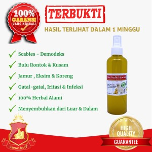 Spray Obat Kulit Scabies Demodex Jamur Kutu Anjing Kucing Hewan 100ml