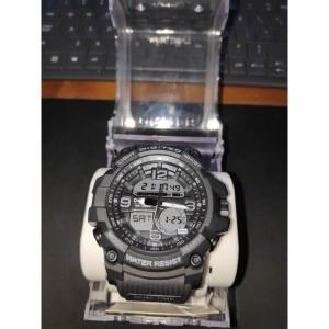 Jam Tangan Pria Dual Time Digitec Digital Analog Battery Life 5 Tahun