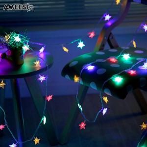 Lampu Kabel / Natal Led Bentuk Bintang Panjang 3M / 5M U Dekorasi