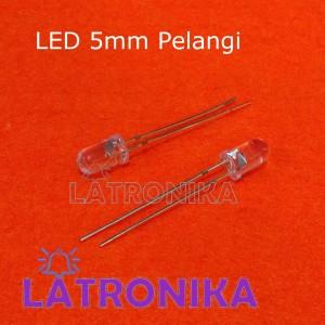 Led 5mm Led Pelangi 2 kaki Flash Kedip Berubah Warna Warni RGB Disco