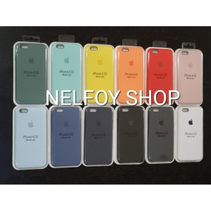 IPHONE 6 6S SILICONE CASE ORIGINAL BY APPLE HARD CASING SOFT