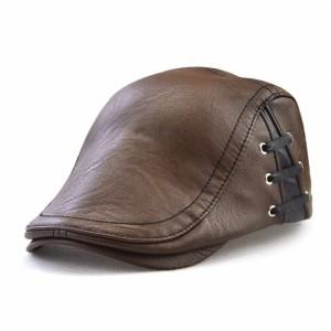 Topi Pet Baret Kulit / Pet Cap England PU Leather Premium