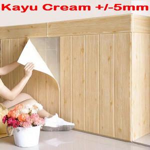 Wallpaper Dinding 3D 70 x 70 cm Foam Serat / Motif Kayu BB