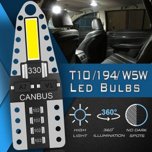 LED T10 CANBUS 7020 Chip Super Terang Fiberglass No Error O599