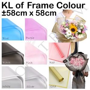 KLOF FRAME COLOUR 20lembar - cellophane - wrapping bunga murah