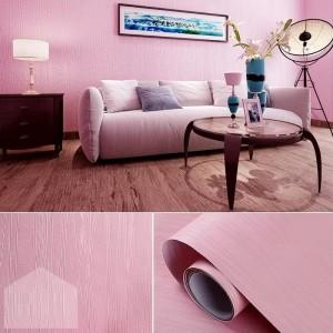 polos pink tekstur salur 45 cm x 10 mtr ~ Wallpaper sticker dinding