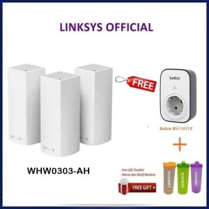 LINKSYS VELOP WHOLE HOME MESH WI-FI SYSTEM WHW0303-AH AC6600 PACK OF 3