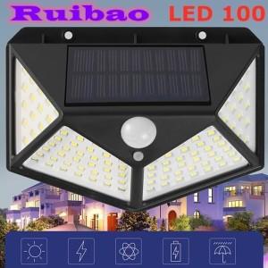 Lampu Solar 100 LED Motion sensor security Wall Lights Waterproof