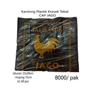 Kantong Plastik Kresek JAGO Tebal Hitam Ukuran 24 (60pcs)