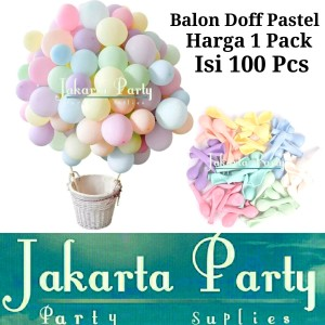 Balon Latex Macaron 1 PACK ISI 100 Pcs / Balon Per Pack / Balon Pastel