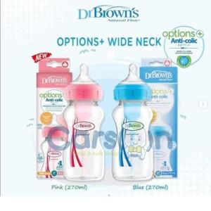 Dr Browns Botol Susu Wide Neck Options 270ml Isi 1 Dr Brown Botol Blue
