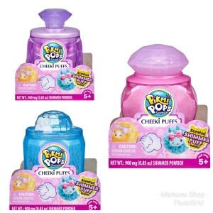Pikmi Pops Cheeki Puffs Small Scented Shimmery Mainan Puff Bedak Wangi