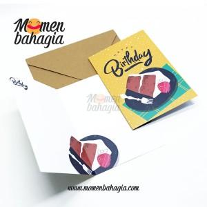 Kartu Ucapan Ulang Tahun Murah - Birthday Greeting Card + Amplop 002