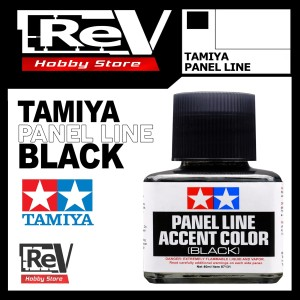 TAMIYA ACCENT COLOR BLACK PANEL LINE GUNDAM MODEL KIT TOOL 87131