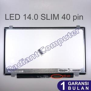 LCD LED Acer Asus Lenovo HP Dell Toshiba 14.0 Slim 40pin Umum