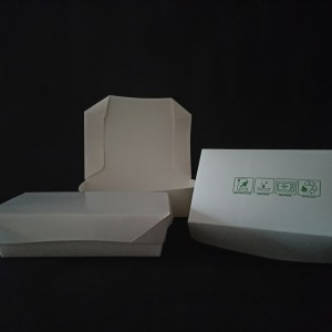 Paper lunch box L/food grade.