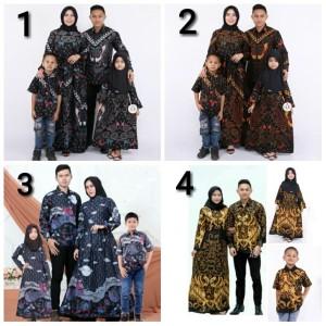 couple gamis batik bambu baju batik keluarga batik sarimbit