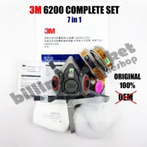 PROMO 3M 6200 3M Half Facepiece Respirator Half Gas Mask Medium Masker