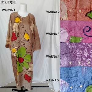 Long Dress Jumbo Baju Daster Pakaian Tidur Batik Pekalongan 3
