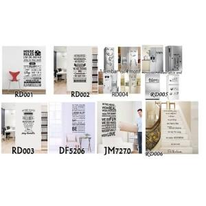 wall sticker/ wallsticker 60x90 QUOTE KATA KATA BIJAK / BAGUS