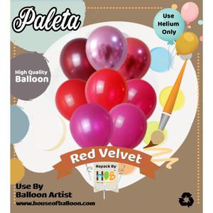 PALETA Decor Balon Latex Lateks Karet Tebal 12 inch / 11 Inch 50 Pcs