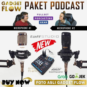 PAKET PODCAST Mic Microphone BM800 BM 800 Mixer A4 Youtube Recording