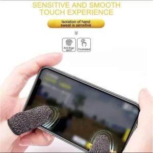Sarung tangan Jempol Bahan Karet Touch Screen Anti Keringat PUBGM