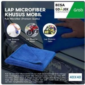 Lap microfiber khusus mobil 40x40cm kain microfiber
