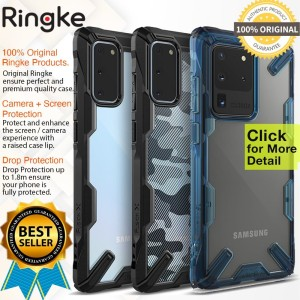 Case Samsung Galaxy S20 Ultra / S20 Plus / S20 Ringke Fusion X Casing
