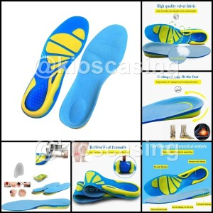 GM Insoles Silicone Gel Insole Alas Sepatu Sol Silikon Shoes Cushion