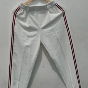 *Preloved* Celana Bershka Putih garis merah