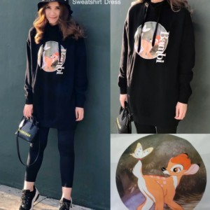 Bambi sweatshirt hoodie dress