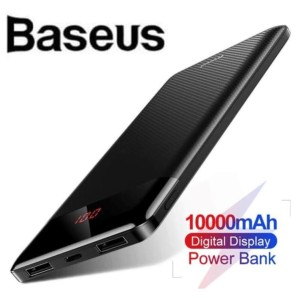 Baseus 10000mAh Super Tipis Power Bank LED Fast Charging
