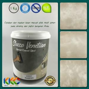 Cat Stucco Venetian Motif Semen SV 09-57 Beautiful Grey Ukuran 1Kg