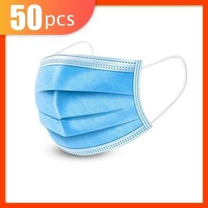 Masker 3 Ply 3Ply isi 50 disposable Surgical mask Masker Bedah Earloop